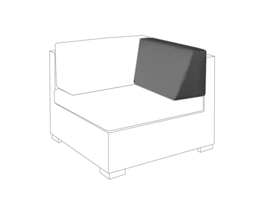 Seitenkissen Eckmodul Lounge rechts granit