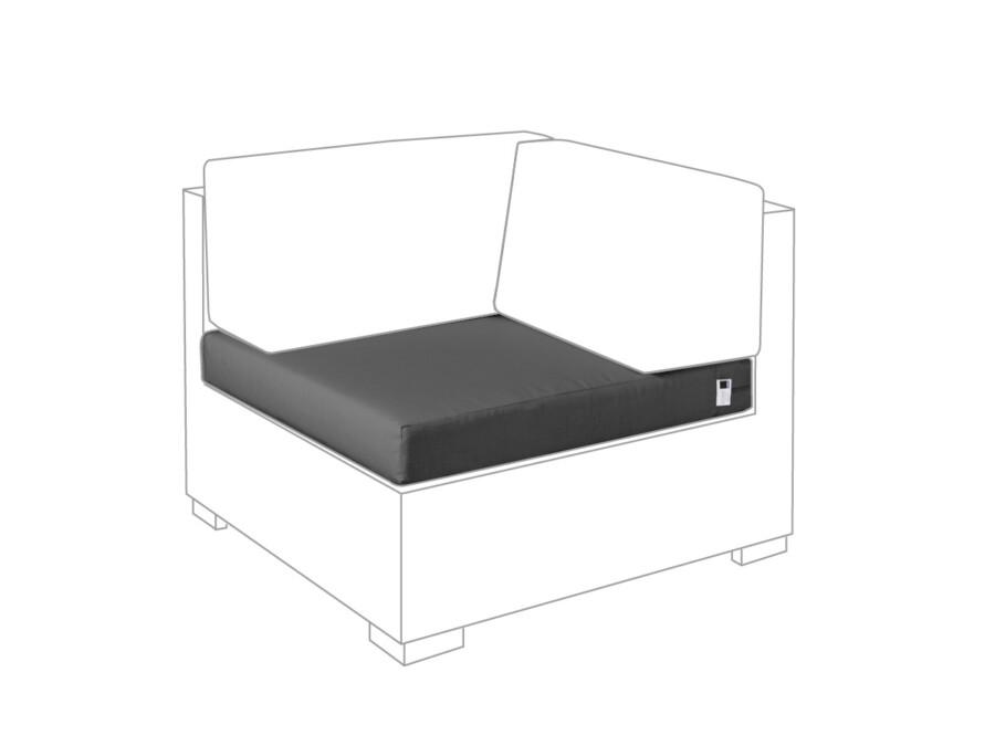 Sitzkissen Eckmodul Lounge Outdoor granit