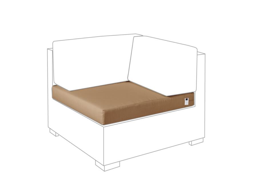 Sitzkissen Eckmodul Lounge Outdoor sahara