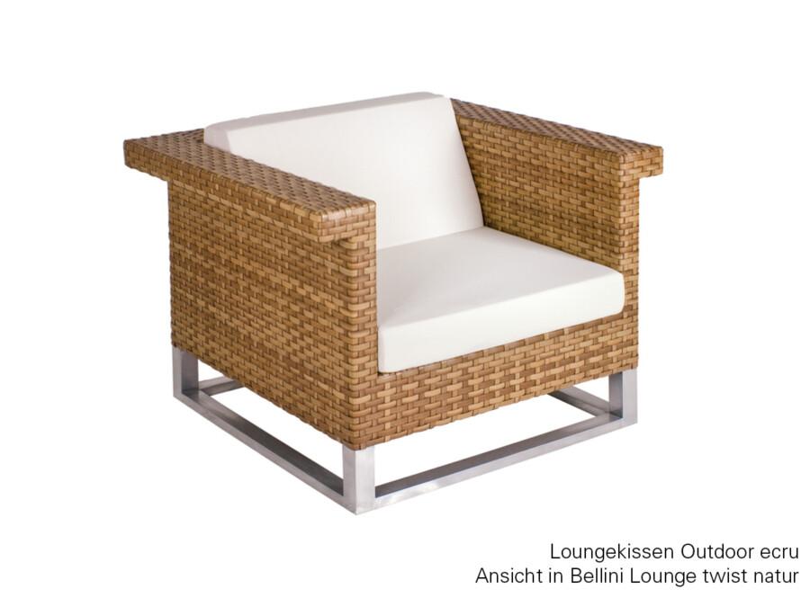 Rückenkissen Loungesessel Outdoor Sunbrella ecru