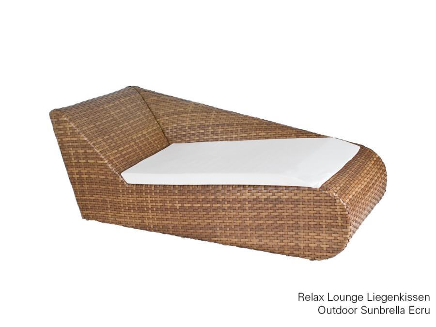 Liegenkissen Relax Lounge links Outdoor Sunbrella ecru