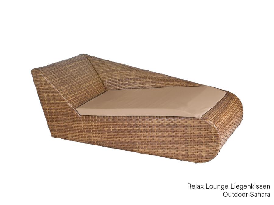 Liegenkissen Relax Lounge links Outdoor granit
