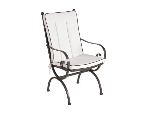 Sitz- Rückenkissen Romeo Elegance uni natur