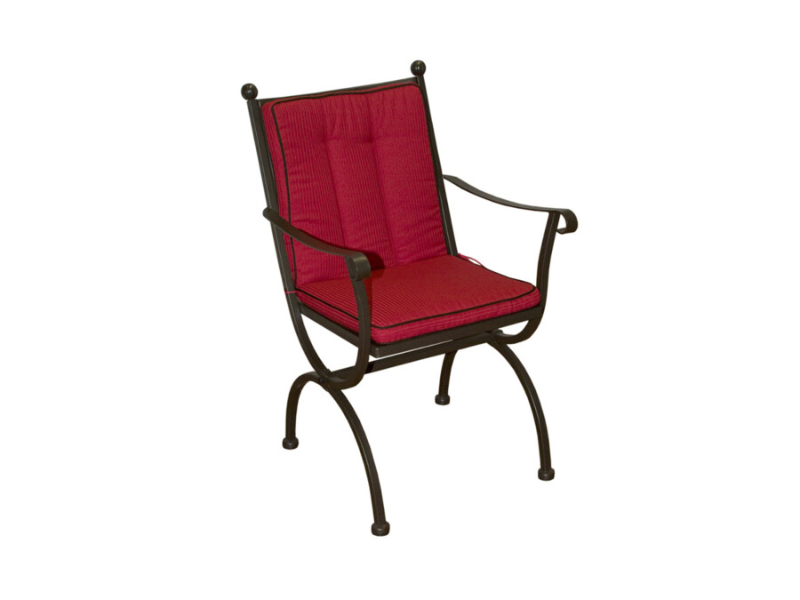 Sitz- Rückenkissen Romeo rot