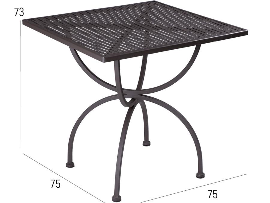 Tisch Romeo 75x75