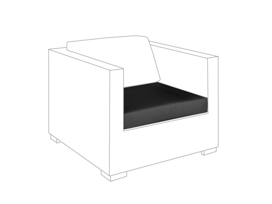 Sitzkissen Loungesessel Outdoor granit