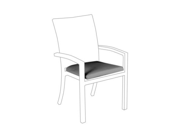Sitzkissen Sessel Bellini Outdoor granit