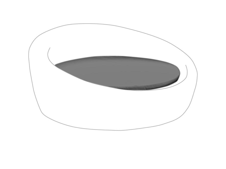 Liegenkissen Fino granit
