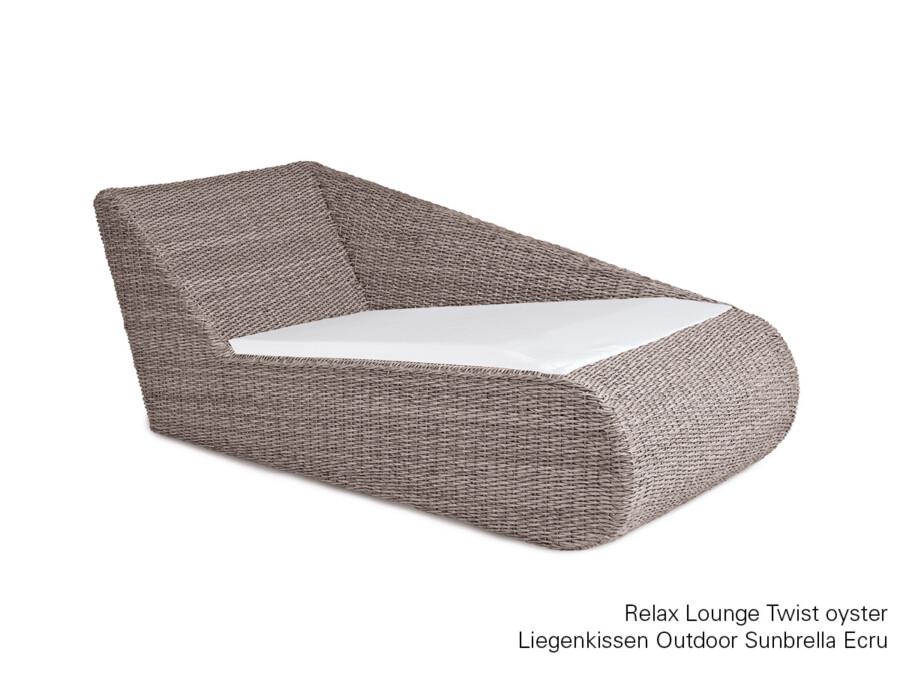 Liegenkissen Relax Lounge Outdoor Sunbrella ecru