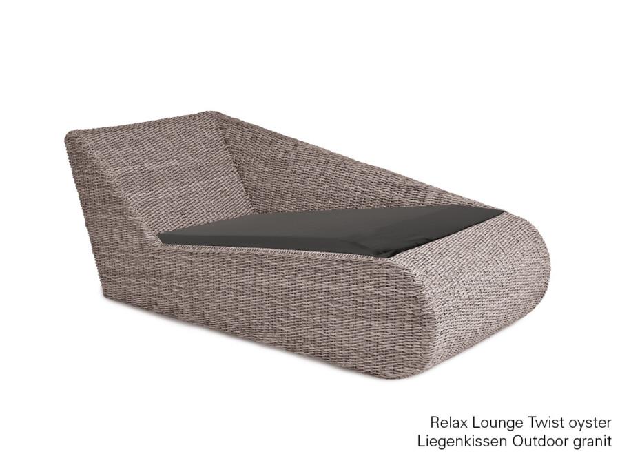 Liegenkissen Relax Lounge granit