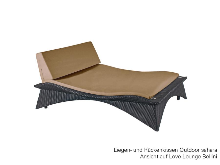 Liegekissen Love Lounge Bellini Outdoor granit