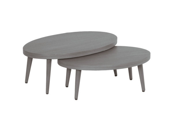 Lounge-Tisch 2er Set grey