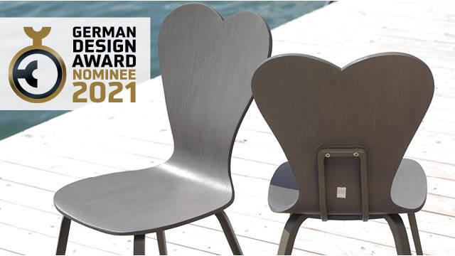 MBM Gartenstuhl SWAN für den German Design Award 2021 nominiert